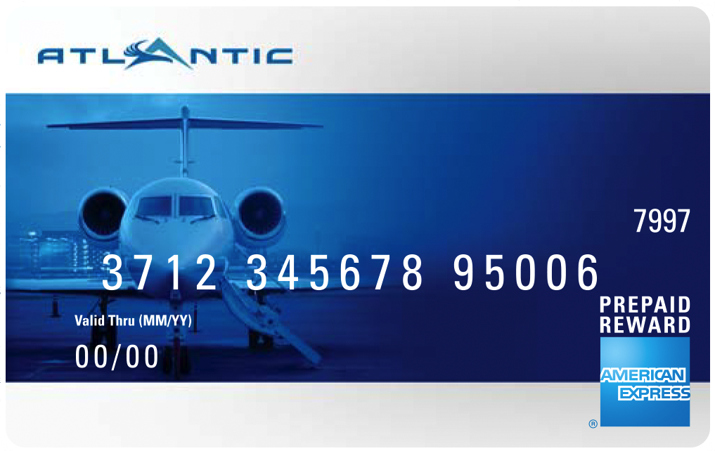 Example of previous Atlantic Awards American Express card